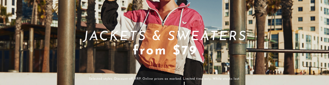 Jackets/Sweaters  From $79