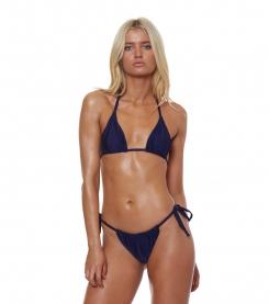 Shimmer Me String Bikini Top